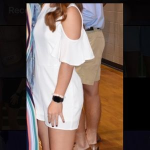 WHITE ROMPER SIZE MEDIUM WORN ONCE TAKING OFFERS